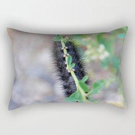 Fuzzy Black Caterpillar Feet Rectangular Pillow