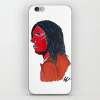neil gaiman iPhone & iPod Skins featuring Neil Young by Urban Knish