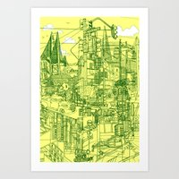 San Francisco! (Yellow) Art Print