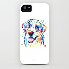 Bernese Mountain Dog Watercolor Painting iPhone Case