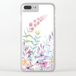 Sweet Spring Meadow Clear iPhone Case