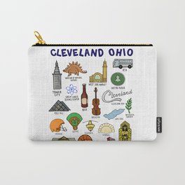 Cleveland Ohio Icons Carry-All Pouch