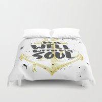 scripture Duvet Covers featuring It is Well With My Soul by Zeke Tucker