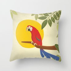 Macaw Throw Pillow