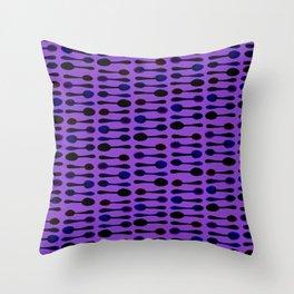Purple Spoon Print! Throw Pillow