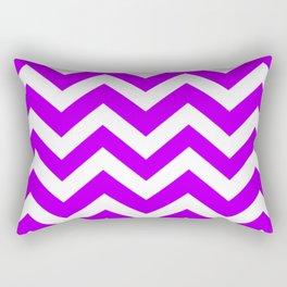 Electric purple - violet color - Zigzag Chevron Pattern Rectangular Pillow