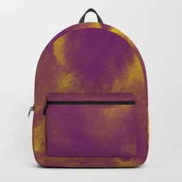Watercolor texture - purple and yellow Backpack