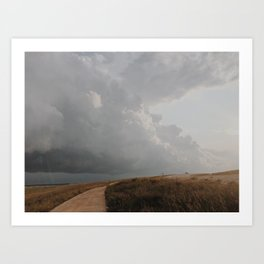 Golden Storm Prairie Art Print