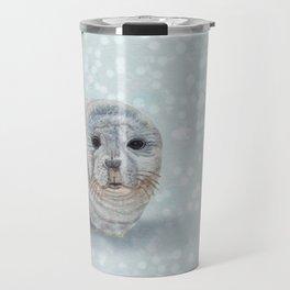 Snowy Seal Travel Mug