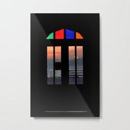 colorful door in istanbul port Metal Print