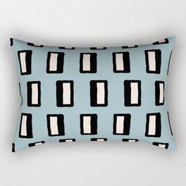 Chad Pattern Blue Rectangular Pillow
