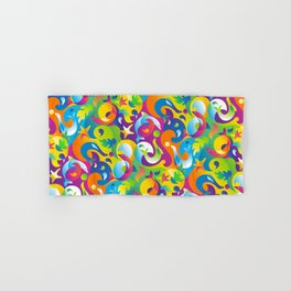 Dolphins, Seals and Sea Life in Tropical Ocean Waves Hand & Bath Towel