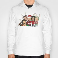 liam payne Hoodies featuring It's Christmas, Liam Payne by Ashley R. Guillory