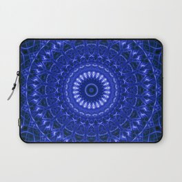 Dark blue mandala Laptop Sleeve