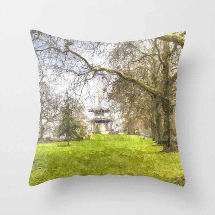 The Pagoda Battersea Park London Art Throw Pillow