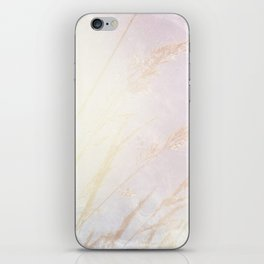 Abstract summer blush pink yellow whey pattern iPhone Skin
