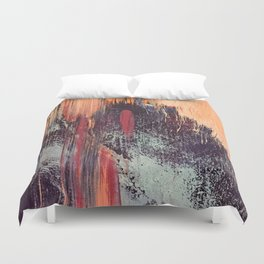 Night and Day: pretty abstract piece in orange, purple, and blues Duvet Cover