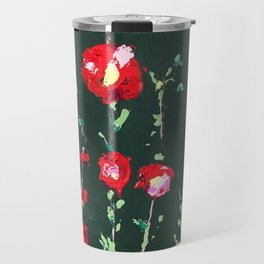 Flowers on Green ll Travel Mug