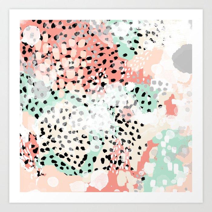 Phoebe - abstract painting minimal gender neutral trendy nursery decor home office art Kunstdrucke