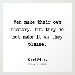 34   | Karl Marx Quotes | 190817 Art Print