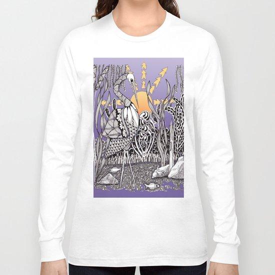 Zentangle Daylight in the Swamp Long Sleeve T-shirt