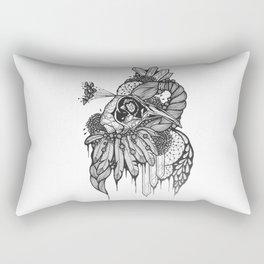 Peacock skull Rectangular Pillow