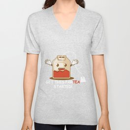 Par-Tea Started Tea Lover Gift Unisex V-Neck