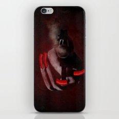 Grunge Bang Bang Red Nails  iPhone & iPod Skin