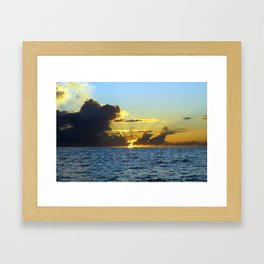 Sunset on the Gulf of Mexico Framed Art Print
