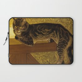 "Théophile Steinlen ""Cat on a Balustrade"" Laptop Sleeve"