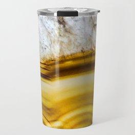 Amber Honey Agate Earth Travel Mug