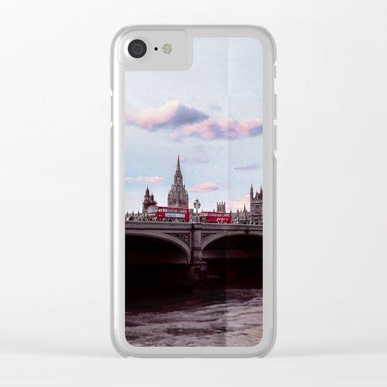 vintage london • westminster bridge Clear iPhone Case
