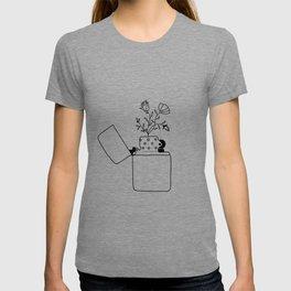 Flower lighter T-shirt