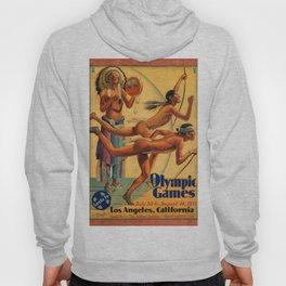 1932 Olympic Games - Los Angeles, CA - Native American - Santa Fe Railroad Vintage Poster Hoody