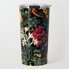 Floral and Birds Pattern Travel Mug