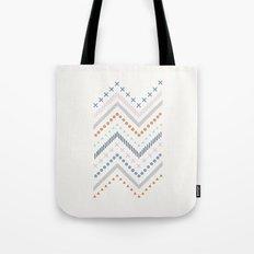 Mixed Zig Zag - in Cobalt Tote Bag