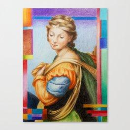 Sta Barbara. after Raphael Canvas Print