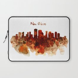 New Orleans watercolor skyline Laptop Sleeve