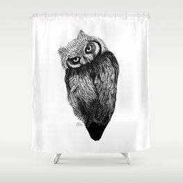 Scops Owl  Shower Curtain