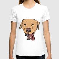levi T-shirts featuring Levi the Yellow Lab by Rachel Barrett