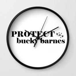 Protect Bucky Barnes Wall Clock