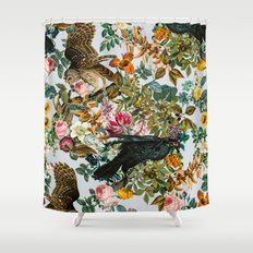 FLORAL AND BIRDS VI Shower Curtain