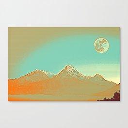 Full Moon over High Peak Canvas Print