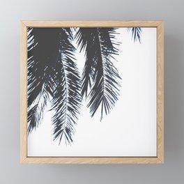 Palm Tree leaves abstract Framed Mini Art Print