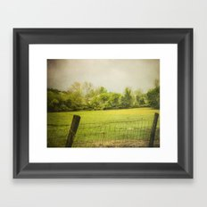 green green grass  Framed Art Print