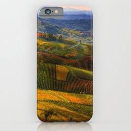 Tuscany, italian wineyards iPhone Case