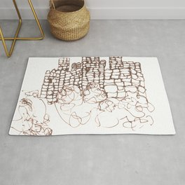 Town Walls  Loose Sketch Rug