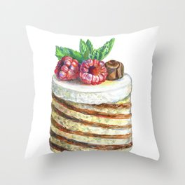 sweet cake illustration Throw Pillow