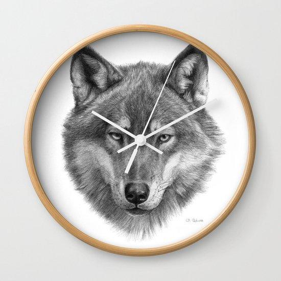 Wolf face G084 Wall Clock
