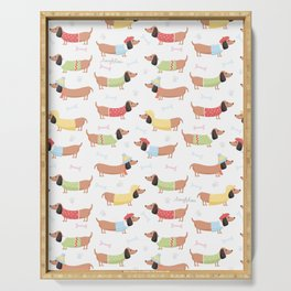 Cute Bassotti Serving Tray